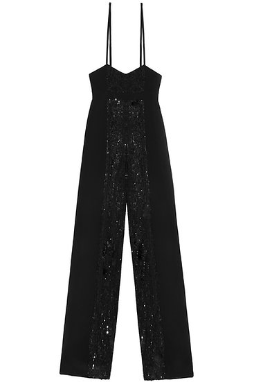 Sequin panel trousers