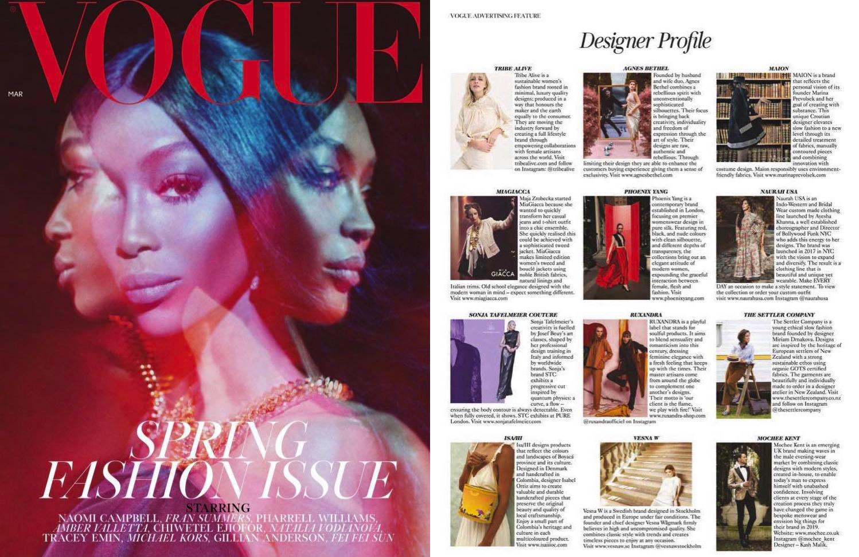 British Vogue March 2019