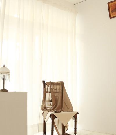 立體接縫薄透衫-絲光棕