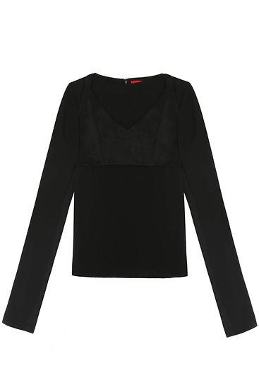 Bra top with open sleeve