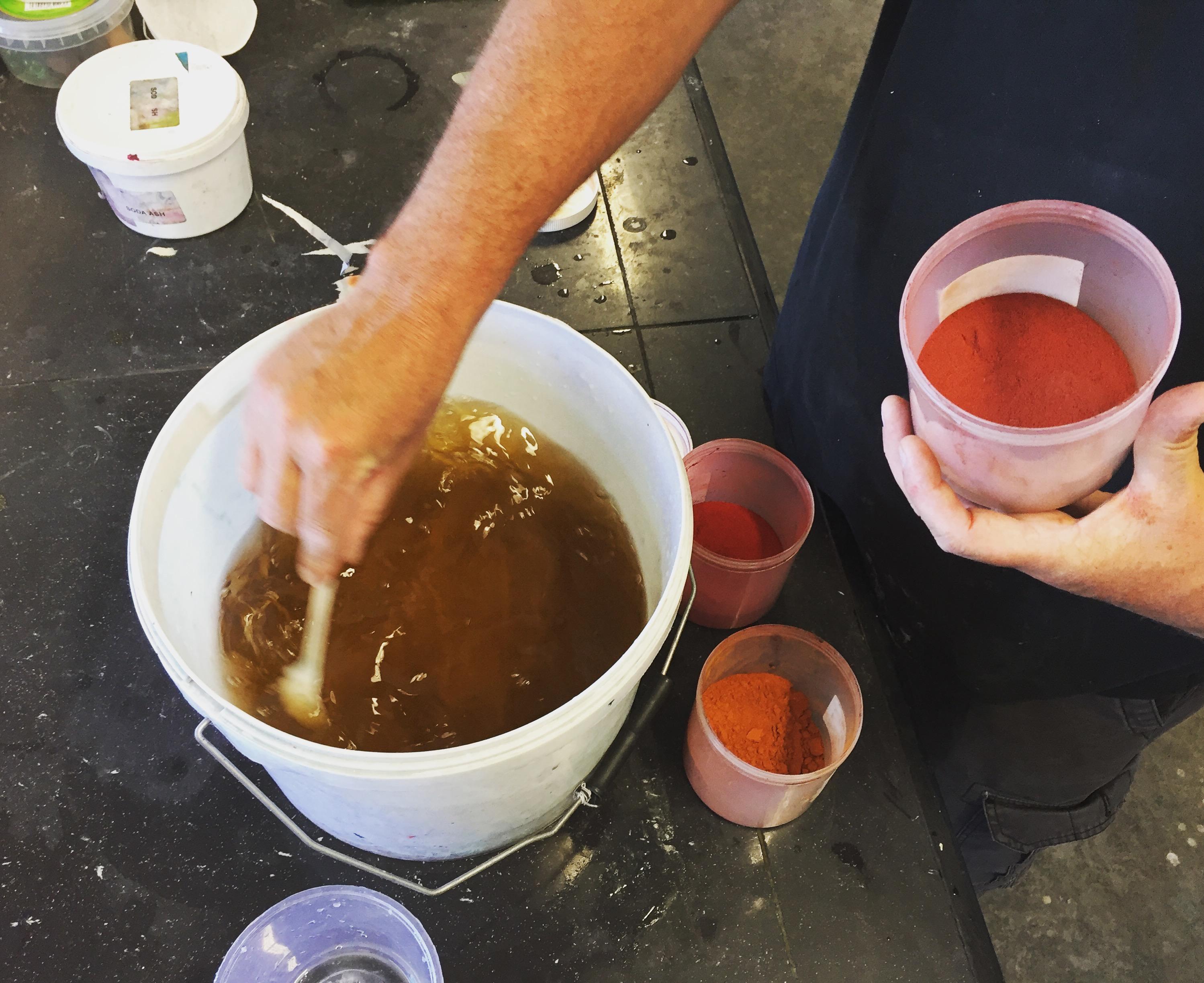Dye testing