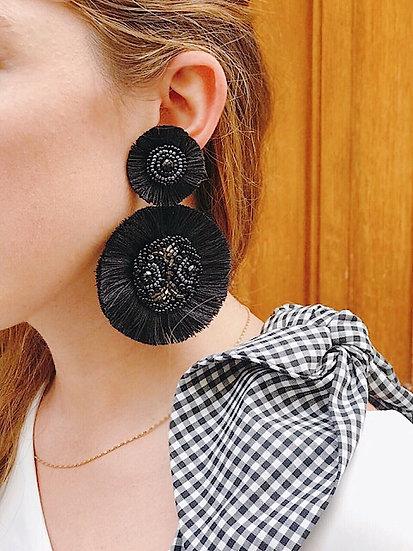 Boucles d'oreilles Marilyn Noires