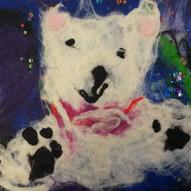 Wet Feltmaking Polar Bear