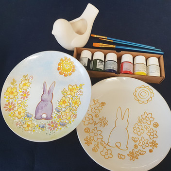 Ceramic painting workshop