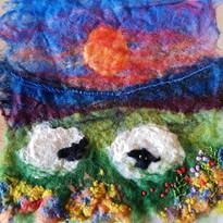 Wet Feltmaking & hand embroidery