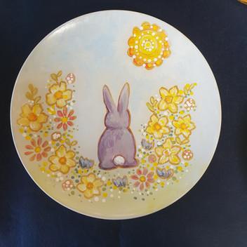 Ceramic painted plate workshop