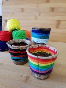 Woven pots