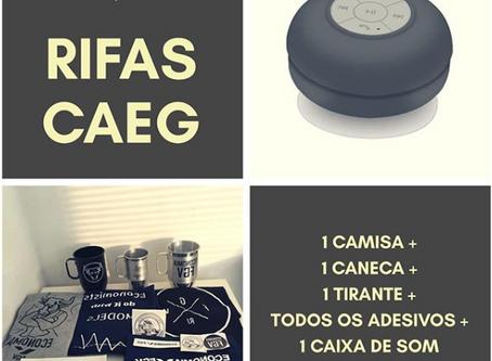 CAEG rifa produtos e caixa de som Bluetooth