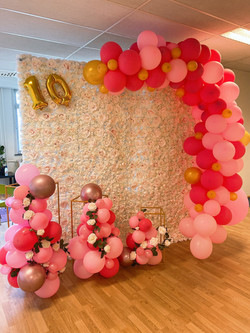 Fotot vegg med ballonger