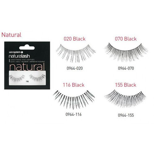 Salonsystem Naturalash Natural Strip Lashes Black - 3 sets
