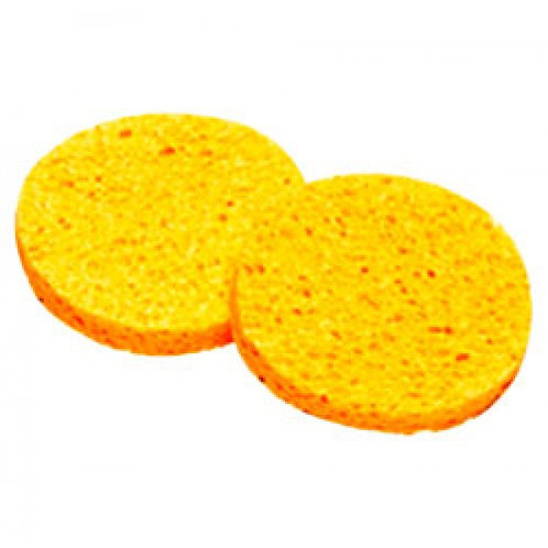 Yellow Cellulose Sponges 75mm - Pk/ 2