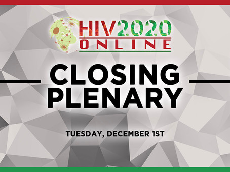 Save The Date for the HIV2020 Online Closing Plenary!