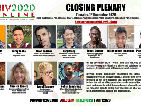 Register Now for the HIV2020 Online Closing Plenary!
