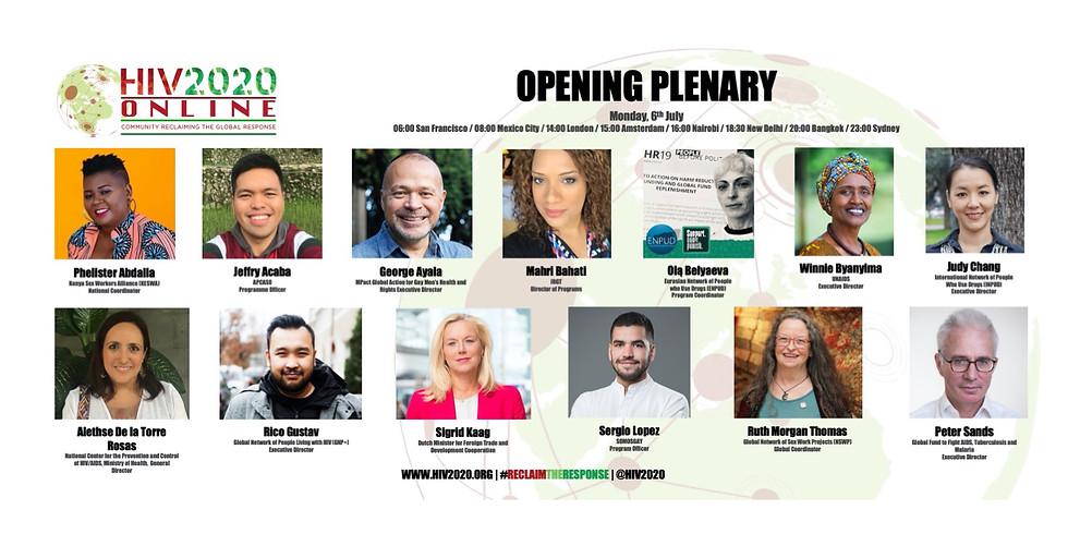 Plenaria de apertura de HIV2020