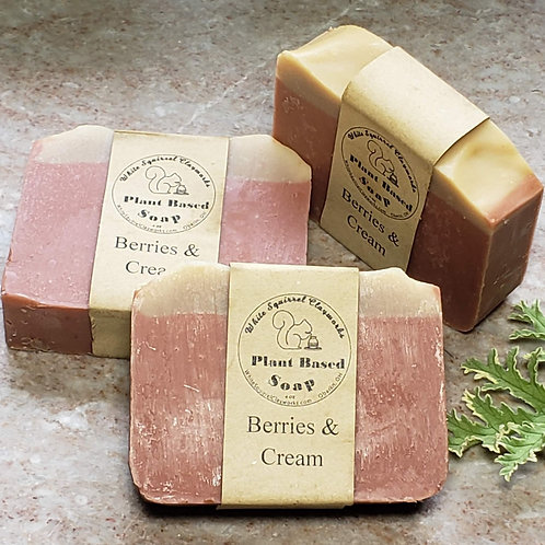Berries & Cream Scented All Natural Handmade Soap - 4oz