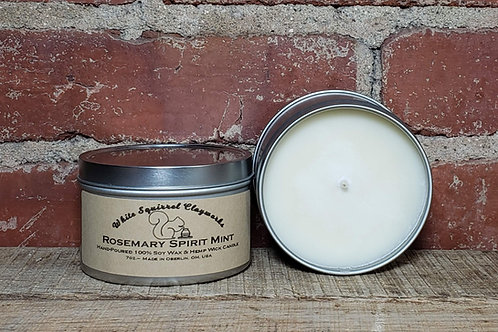 Rosemary Spirit Mint Hand-Poured Soy Candle - 7oz