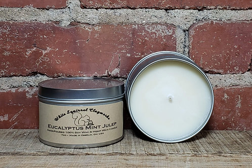 Eucalyptus Mint Julep Hand-Poured Soy Candle - 7oz