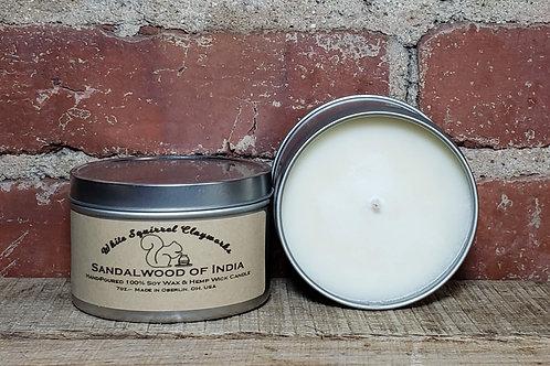 Sandalwood of India Hand-Poured Soy Candle - 7oz