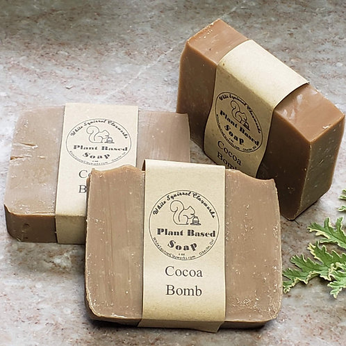 Cocoa Bomb Scented All Natural Handmade Soap - 4oz