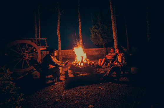 Bonfire in the evening