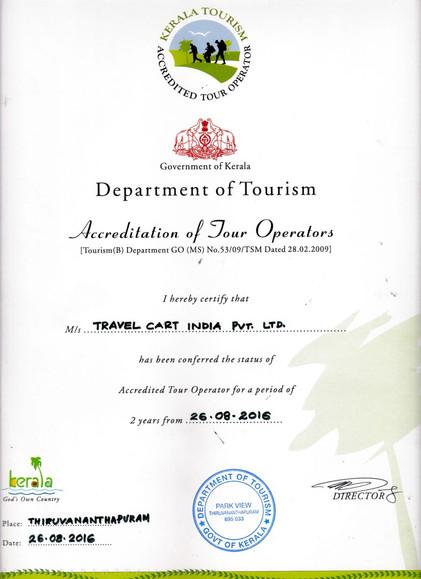 Kerala Tourism Accredited Tour Operator