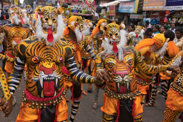 Pulikali (Tiger Dance) at Thrissur