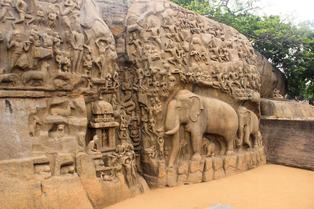 Arjuna's penance in Mahabalipura