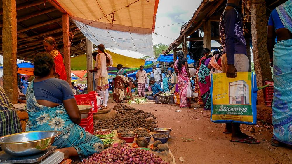 Market at Chettinad