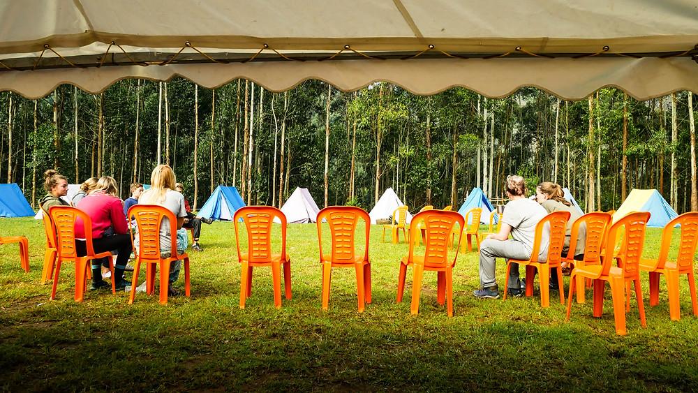 Camp site at Koviloor Munnar