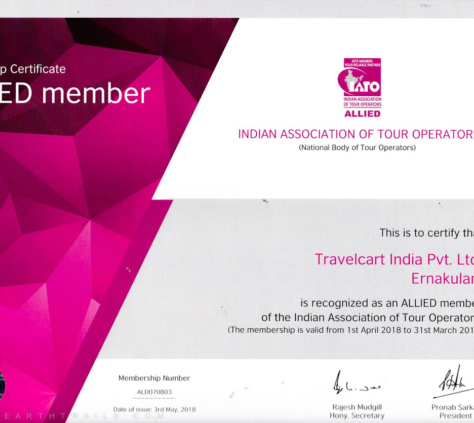 Accredited Kerala Tour Operator & Ministry of Tourism Govt