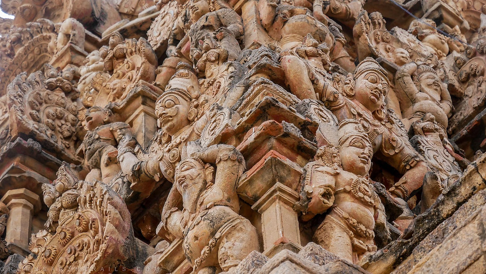 Sculptures at the Big Temple at Tanjore