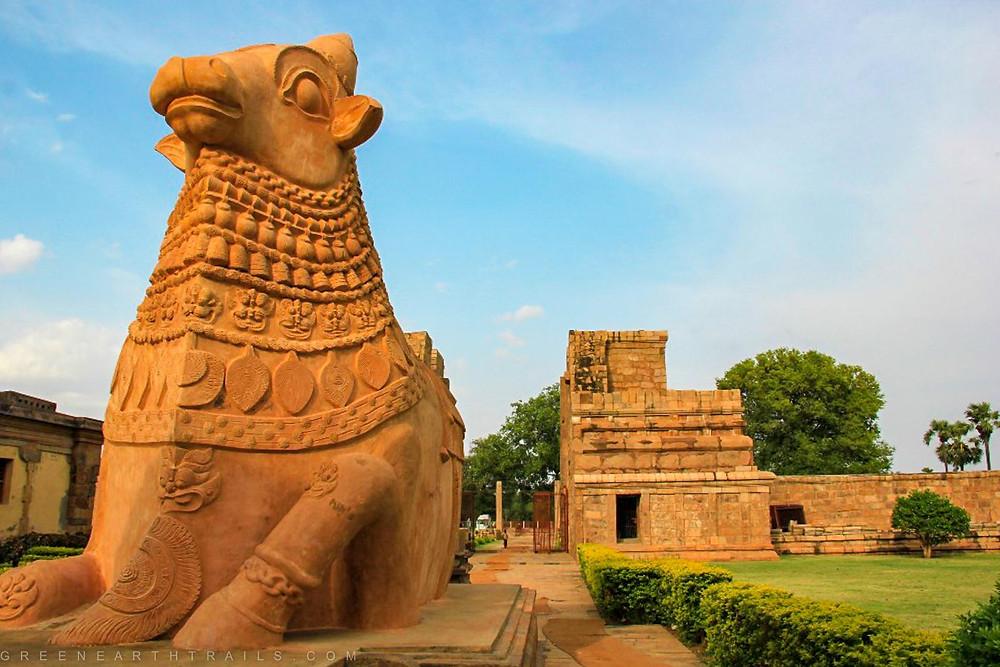 Nandi (Lord Siva's Carrier) at the Gangaikonda Cholapuram Temple Tamil Nadu