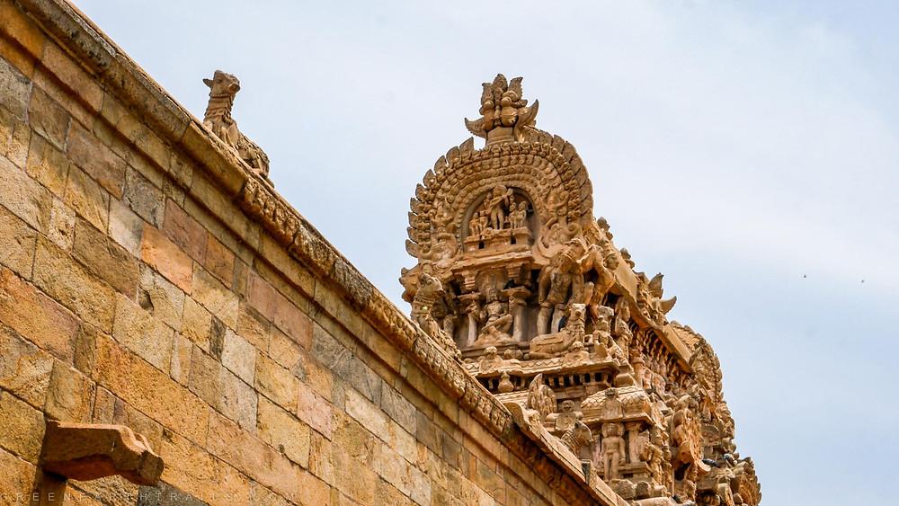 The crown at the Airavatesvara Temple Darasuram Kumbakonam