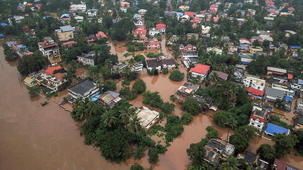 Floods at Aluva in Kerala