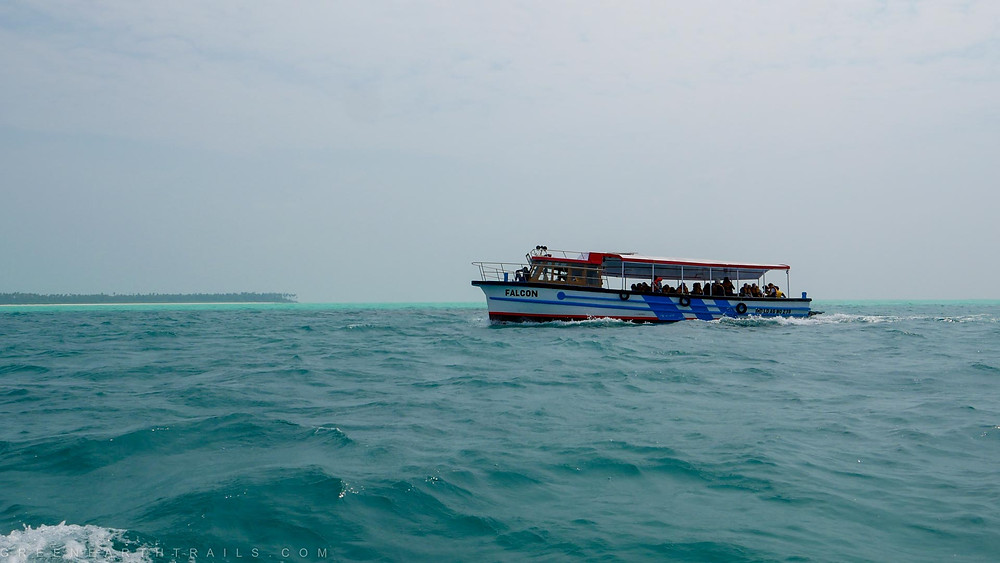 Boat transfer from Agatti to Bangaram Island
