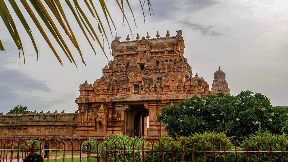 The entrance of the Brihadeshwara Temple Tanjore