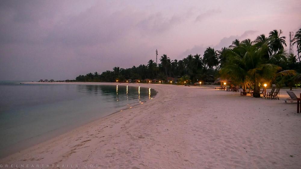 Evening at Bangaram Island Lakshadweep Islands