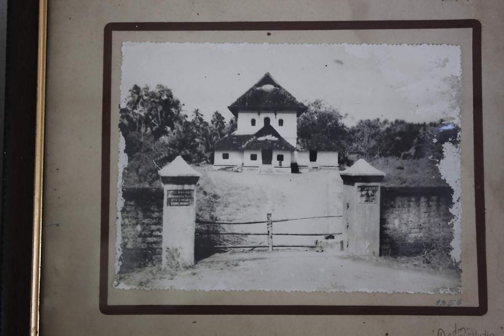 An old photograph of the Cheraman Juma Masjid