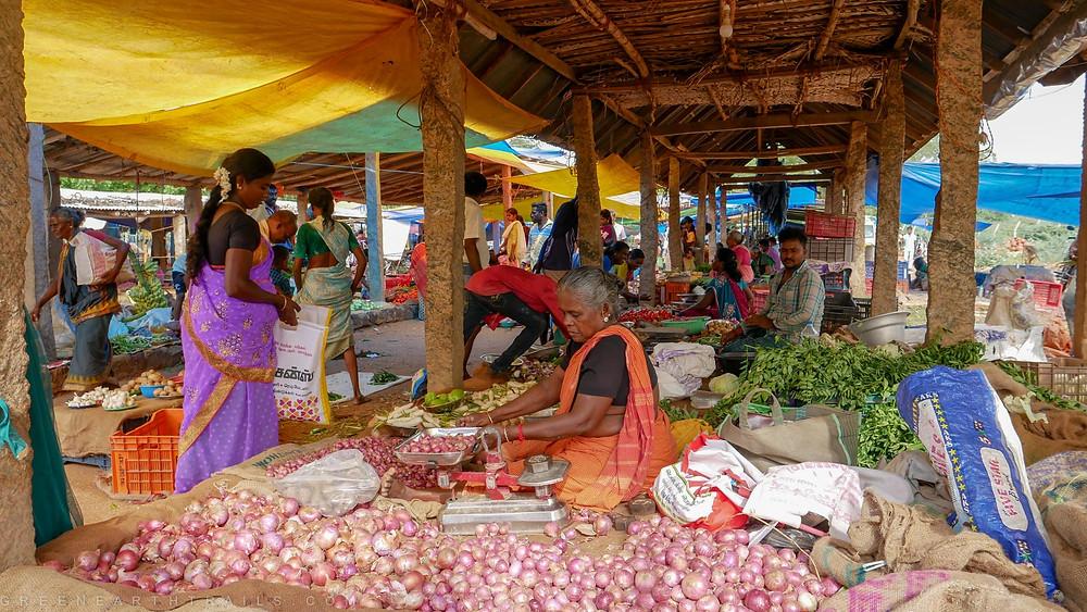 The Market at Kanadukathan in Chettinad