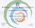 Kerala Travel Mart Member Certificate