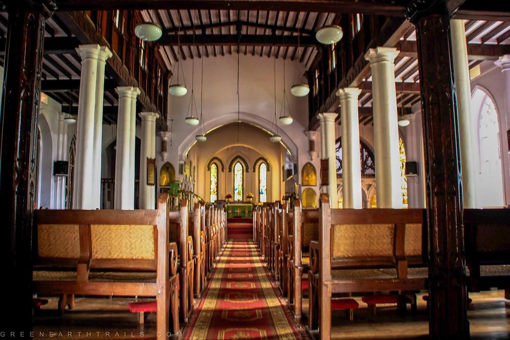 Inside the St Stephen's Church Ooty