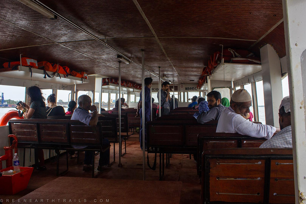 Ferry service from Fort Kochi to Ernakulam