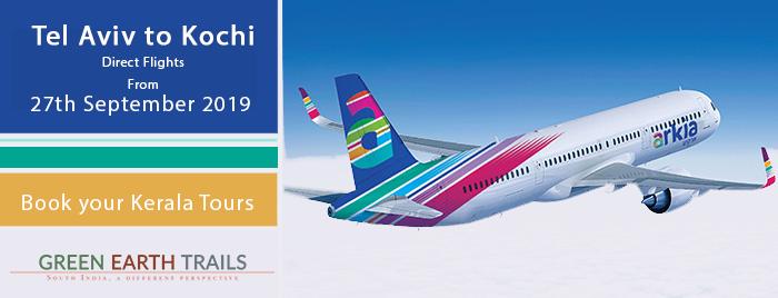 Tel Aviv to Kochi flights by Arkia Airlines