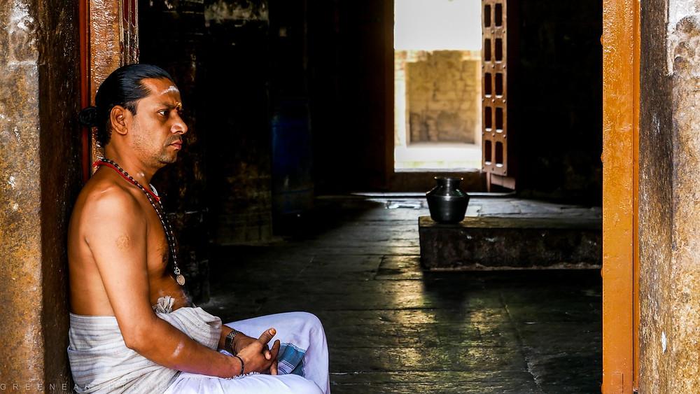 The Poojari at the Airavatesvara Temple Darasuram