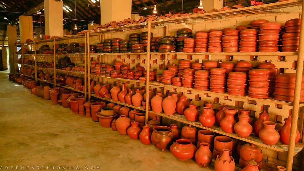 Pots stocked at Clayfingers Kerala