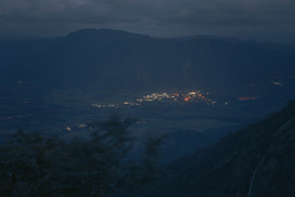 The sight of the town center in the Valley