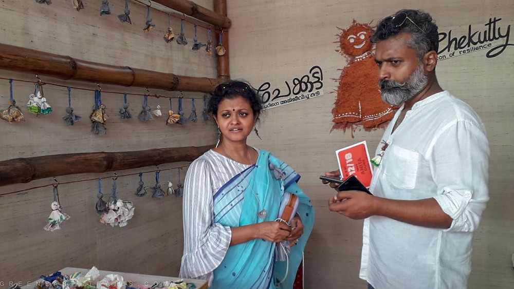 Lakshmi Menon and Gopinath at their Chekutty Stall during KTM 2018