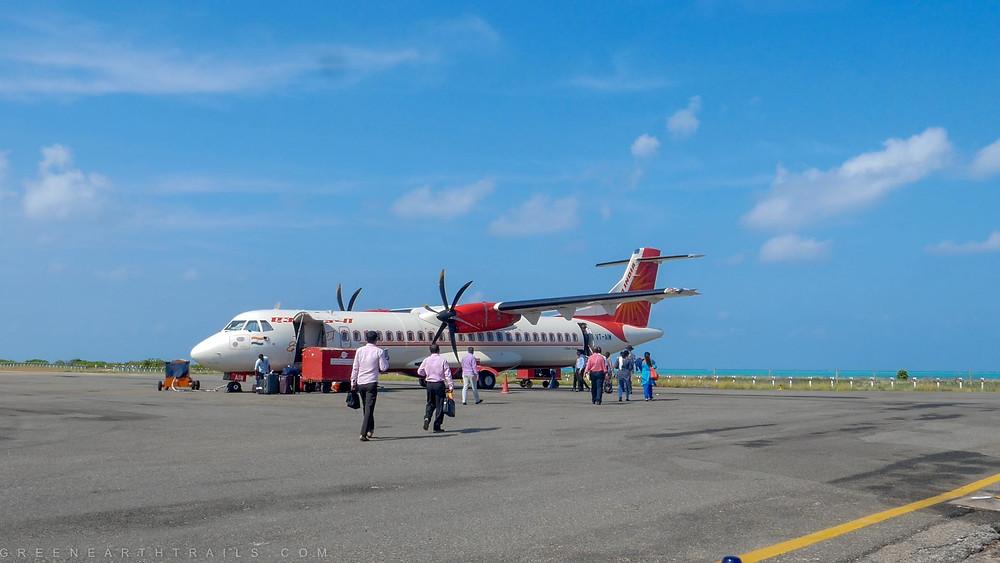Air India Flight at Agatti Island Lakshadweep