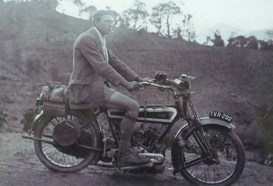 The first motorcycle in Munnar