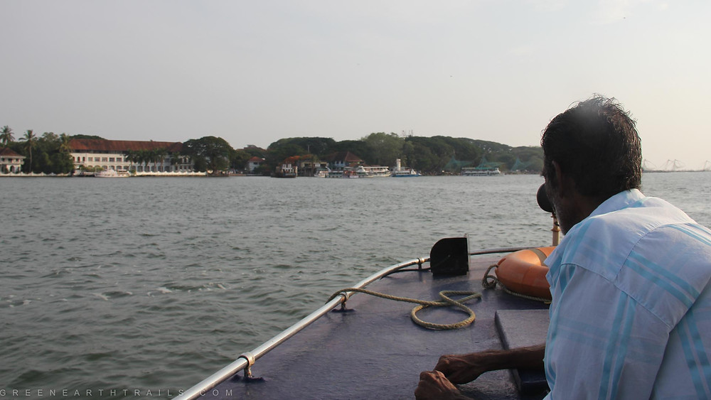 Harbor cruise in Cochin backwaters